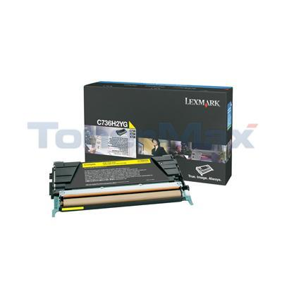 LEXMARK C736DN TONER CART YELLOW 10K